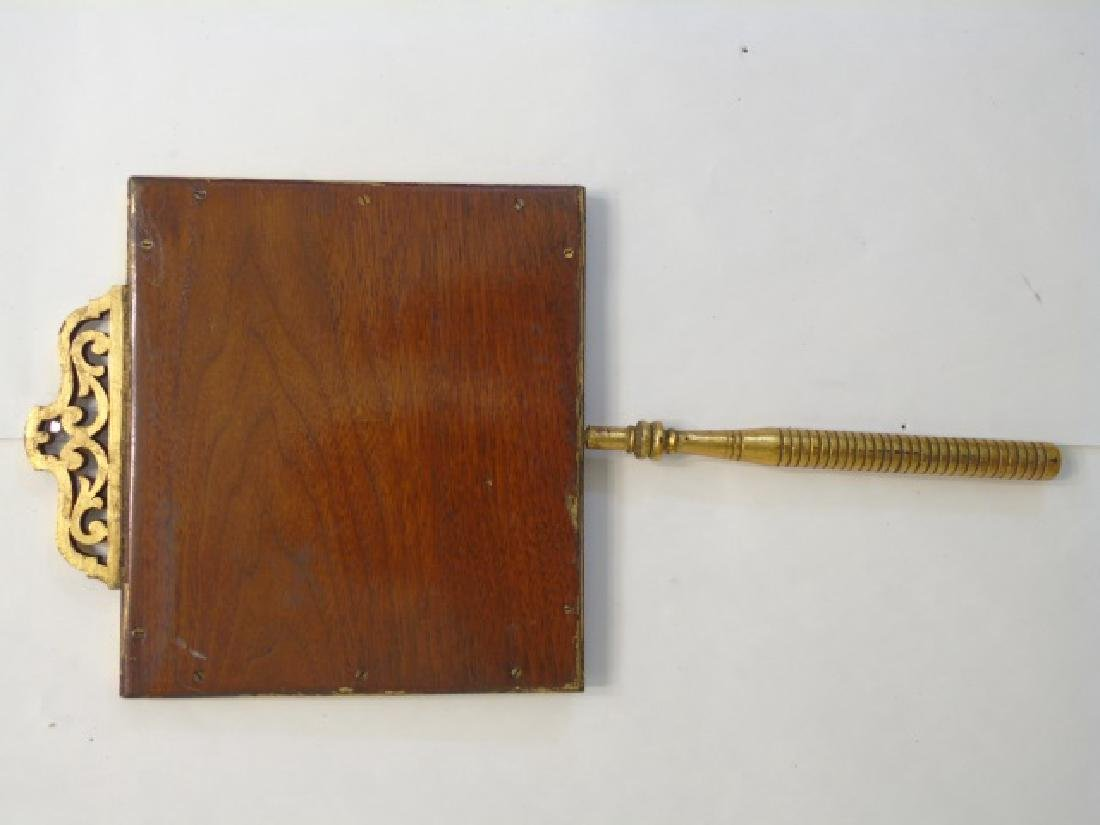 Gold Framed Cherub Print on a Stick-Handle - 2