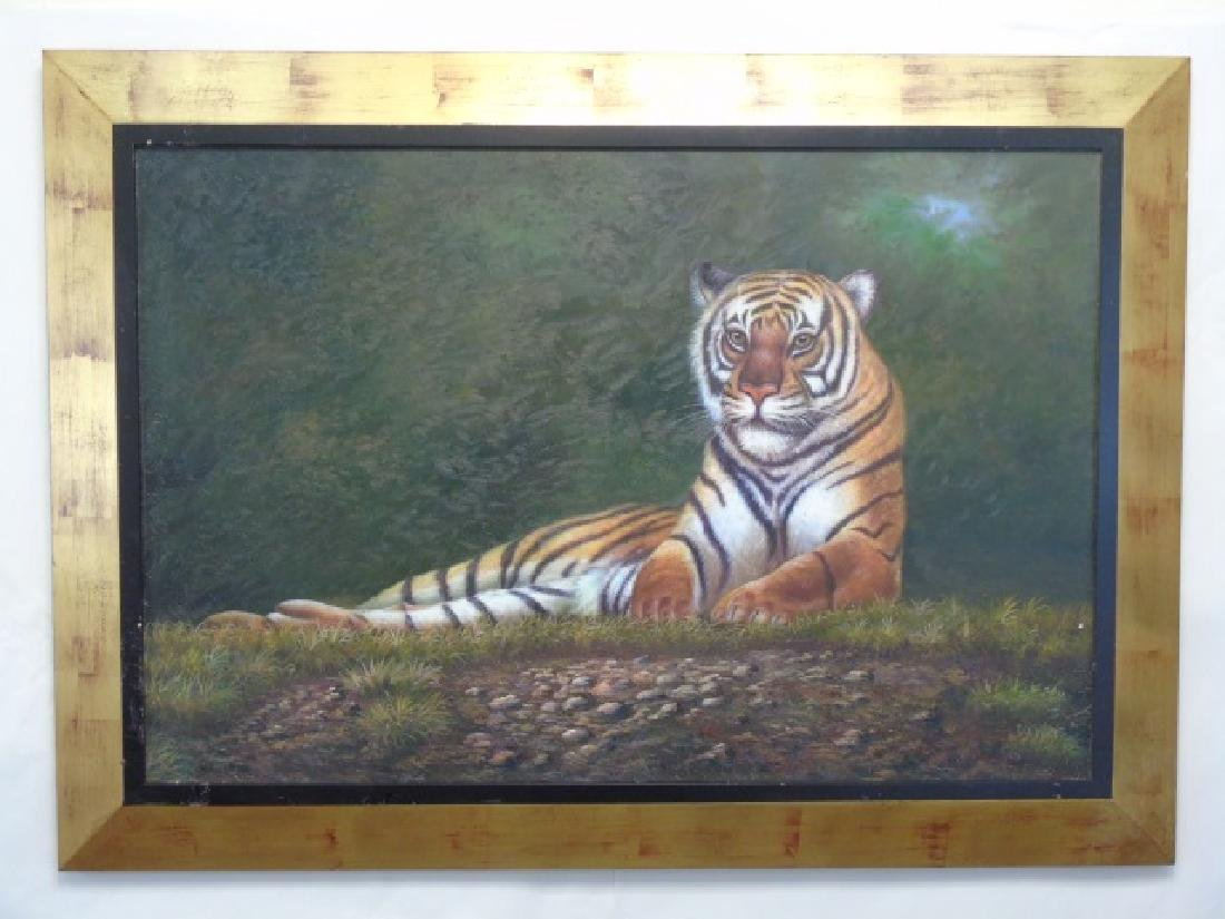 Ingram - Contemporary Painting on Canvas of Tiger