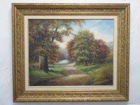 S L Murphy Oil Painting On Canvas Of Path To River
