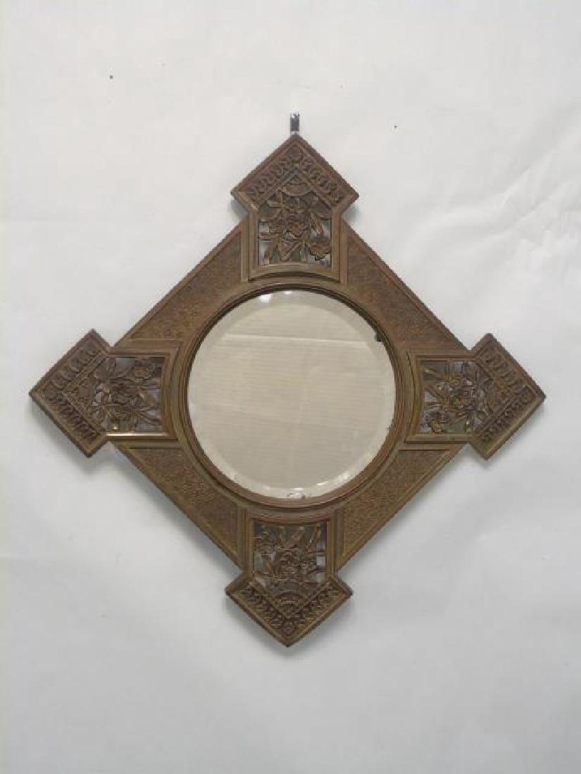 Antique 19th C Victorian Gilt Bronze Frame Mirror
