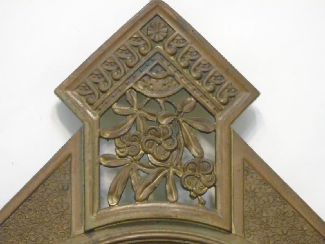Antique 19th C Victorian Gilt Bronze Frame Mirror - 2