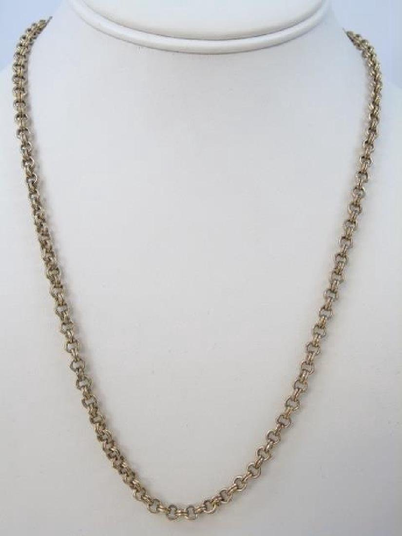English Victorian Style Double Link Necklace Chain