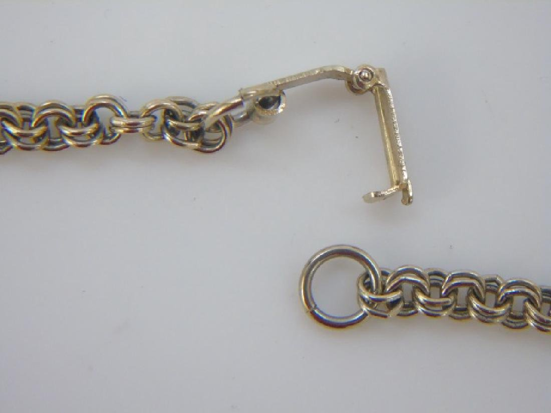 English Victorian Style Double Link Necklace Chain - 3