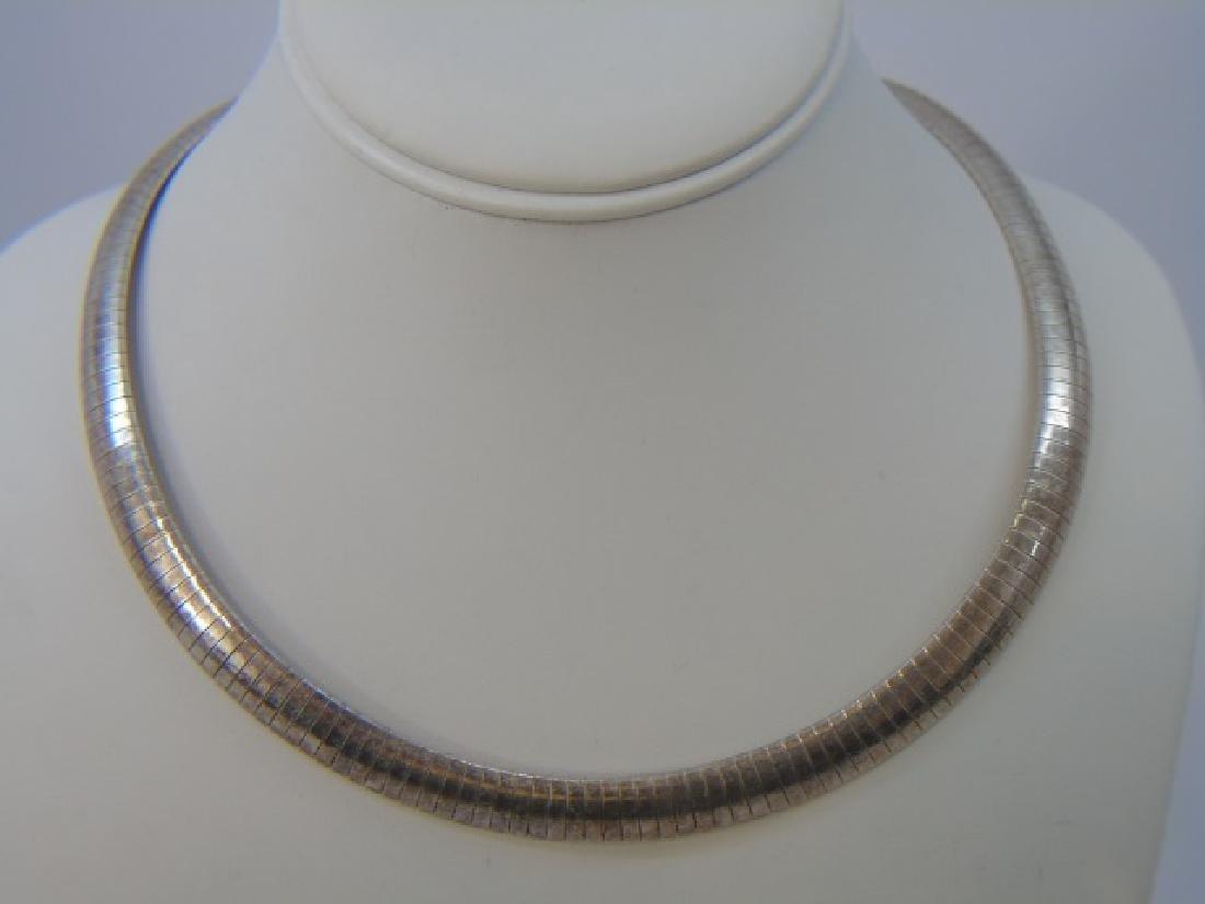 Vintage Sterling Silver Italian Necklace Bracelet - 3