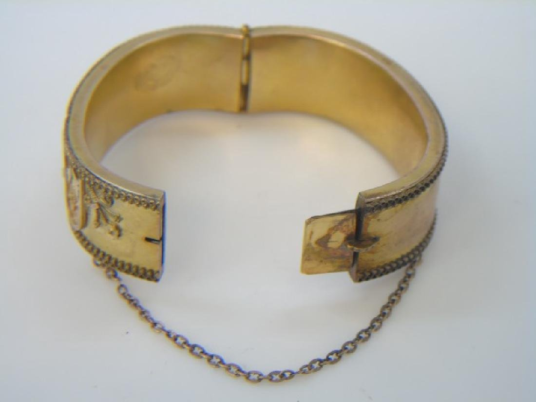Antique 19th C Victorian Gold Filled Bracelet - 2
