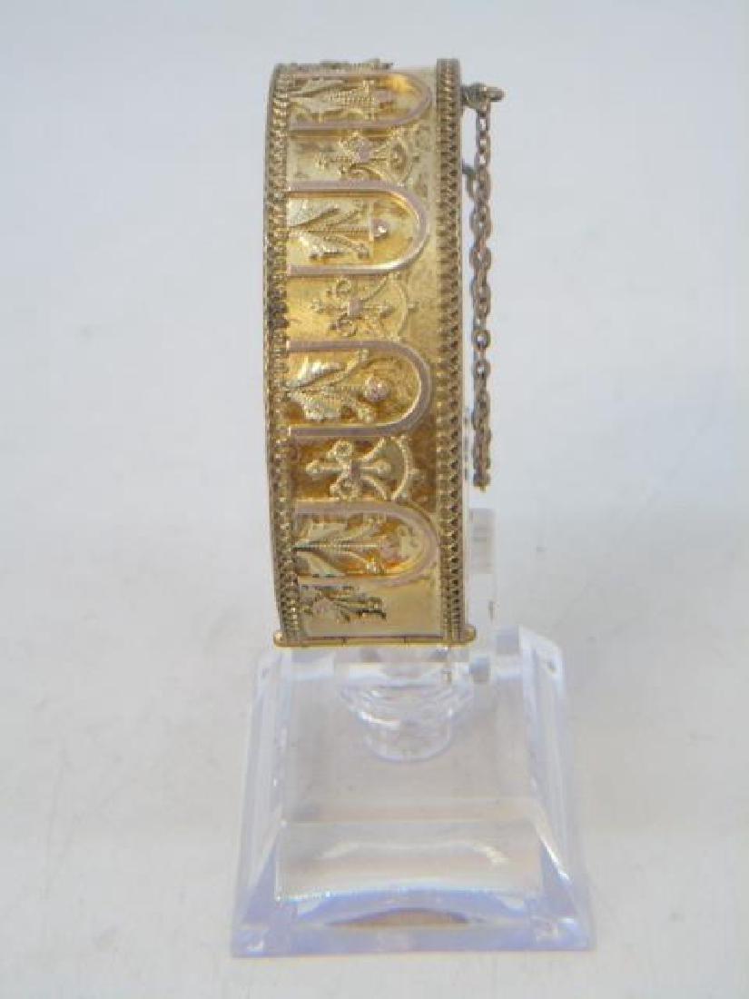 Antique 19th C Victorian Gold Filled Bracelet - 3