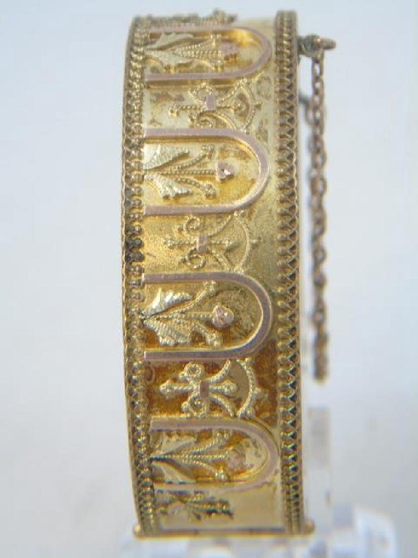 Antique 19th C Victorian Gold Filled Bracelet - 4