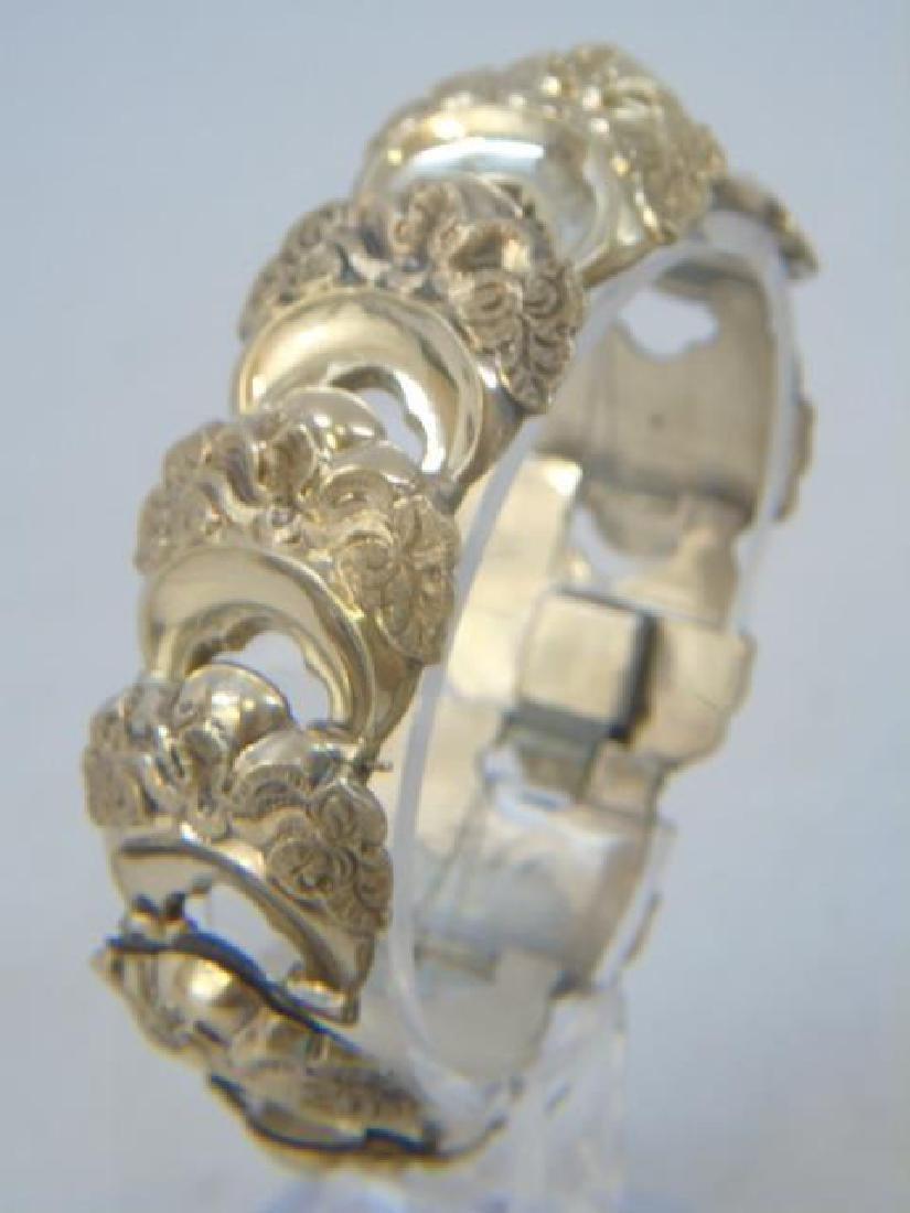 Antique 19th C Victorian Gold Fill Panel Bracelet