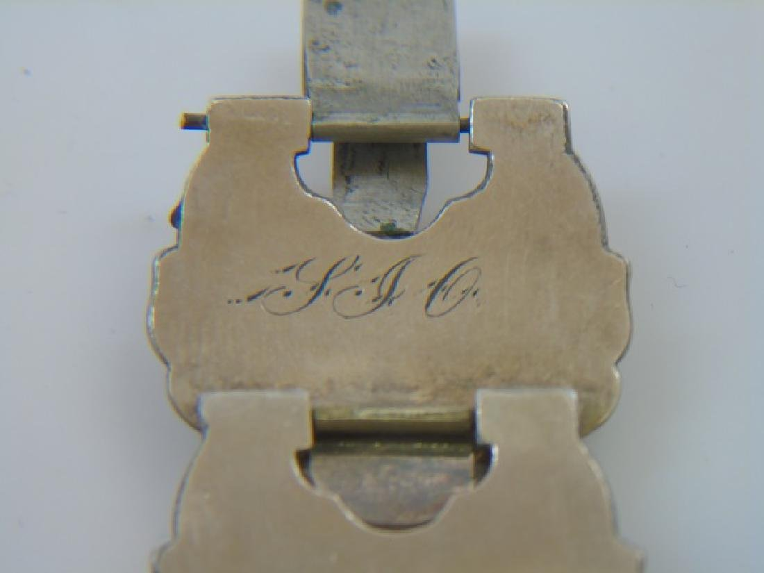 Antique 19th C Victorian Gold Fill Panel Bracelet - 2