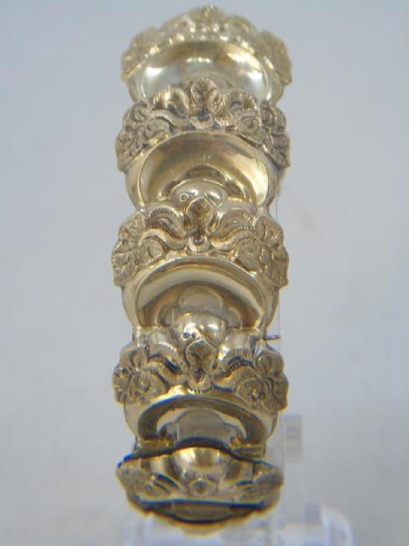 Antique 19th C Victorian Gold Fill Panel Bracelet - 4