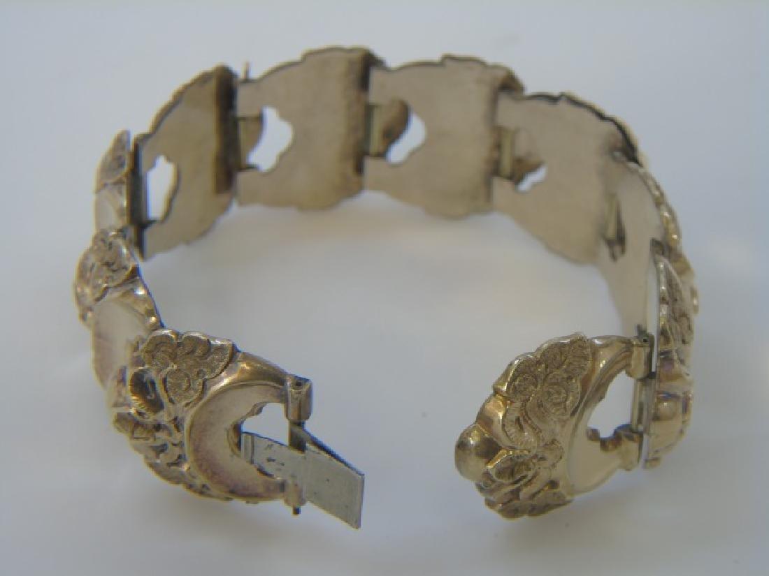 Antique 19th C Victorian Gold Fill Panel Bracelet - 5
