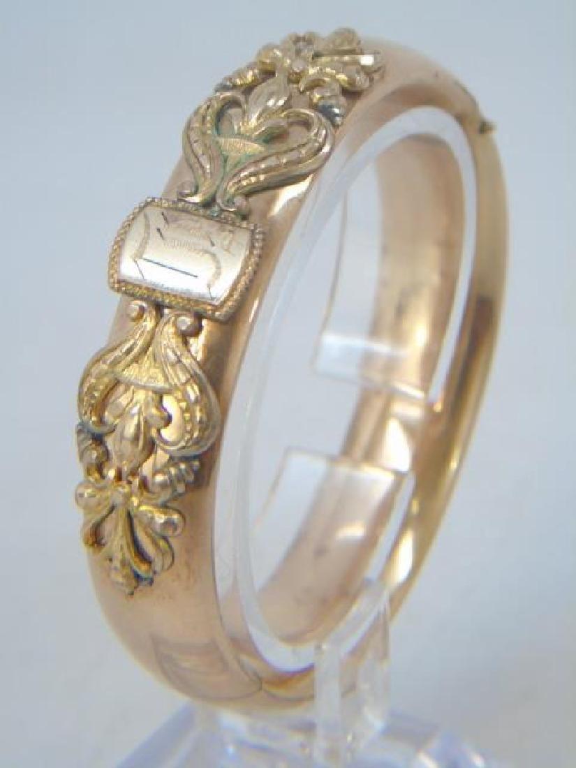 Antique 19th C Victorian Gold Filled Bracelet