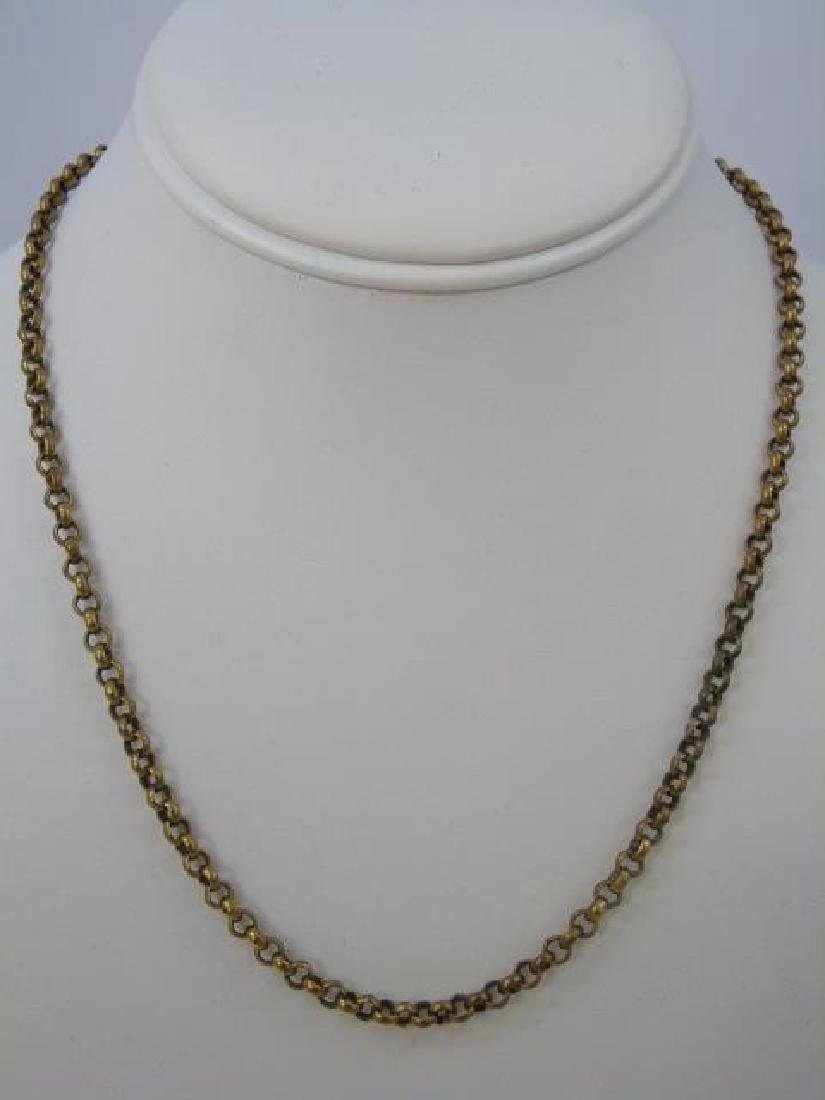 Antique Victorian Yellow Gold Necklace / Chain - 2