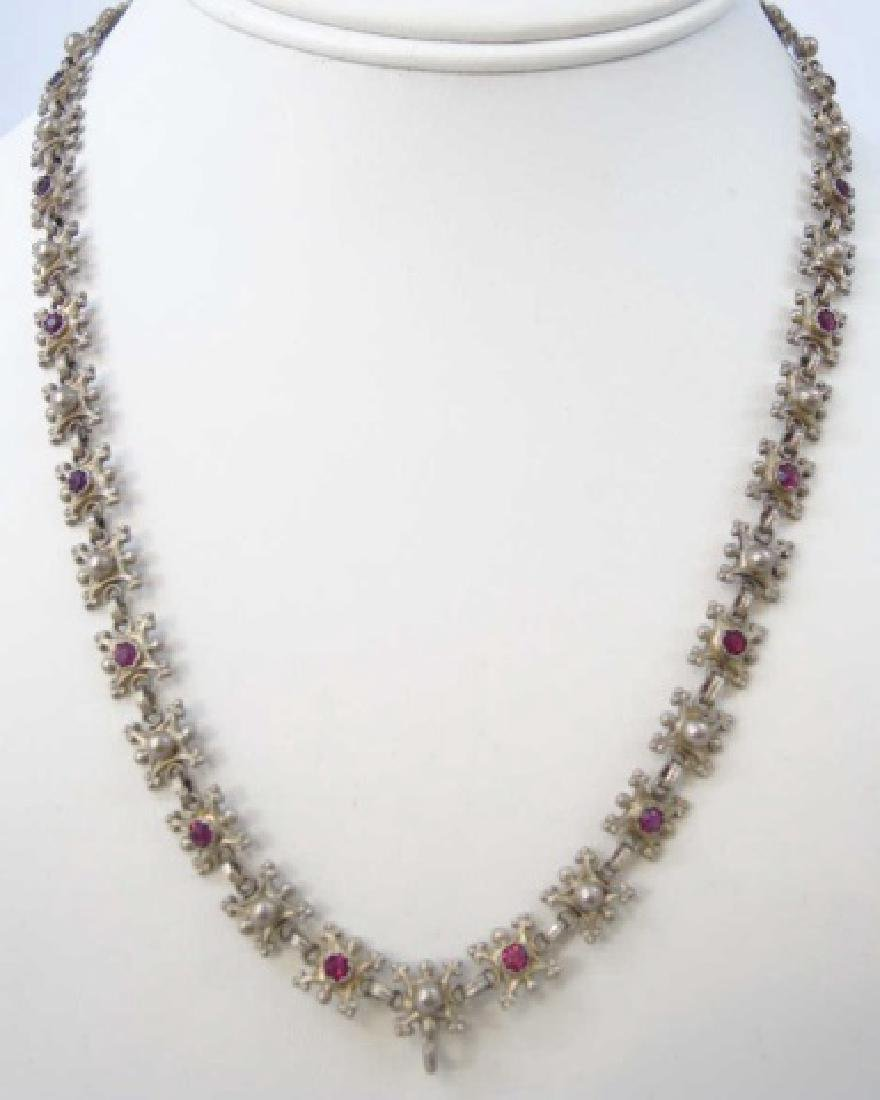 Estate 19th C Austro Hungarian Silver Necklace