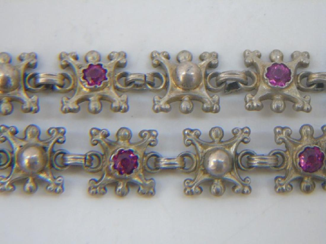 Estate 19th C Austro Hungarian Silver Necklace - 4