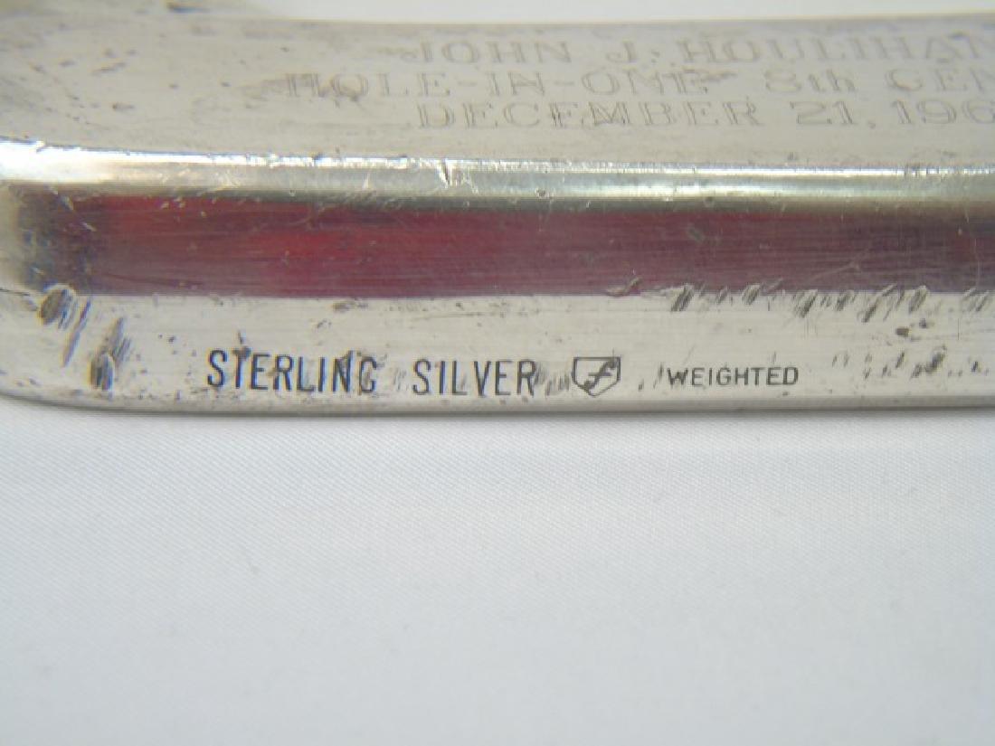 Vintage Presentation Sterling Silver Golf Putter - 2
