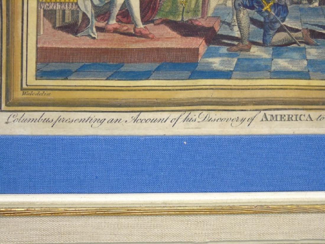 Antique Christopher Columbus Framed Engraving - 3