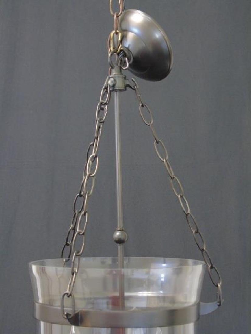 Glass Inverted Cloche 3 Arm Lantern Chandelier - 3