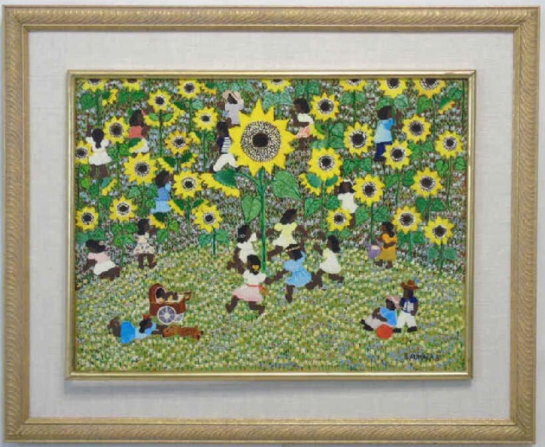 Naive Painting on Canvas by Barbara Xumaia 1981