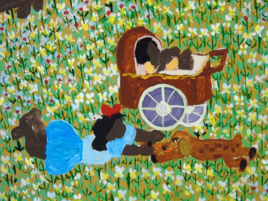 Naive Painting on Canvas by Barbara Xumaia 1981 - 4
