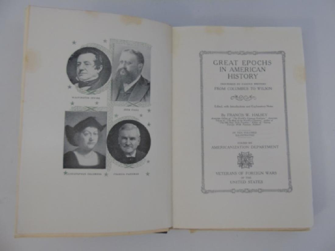 Antique Book Collection Great Epochs American Hist - 2
