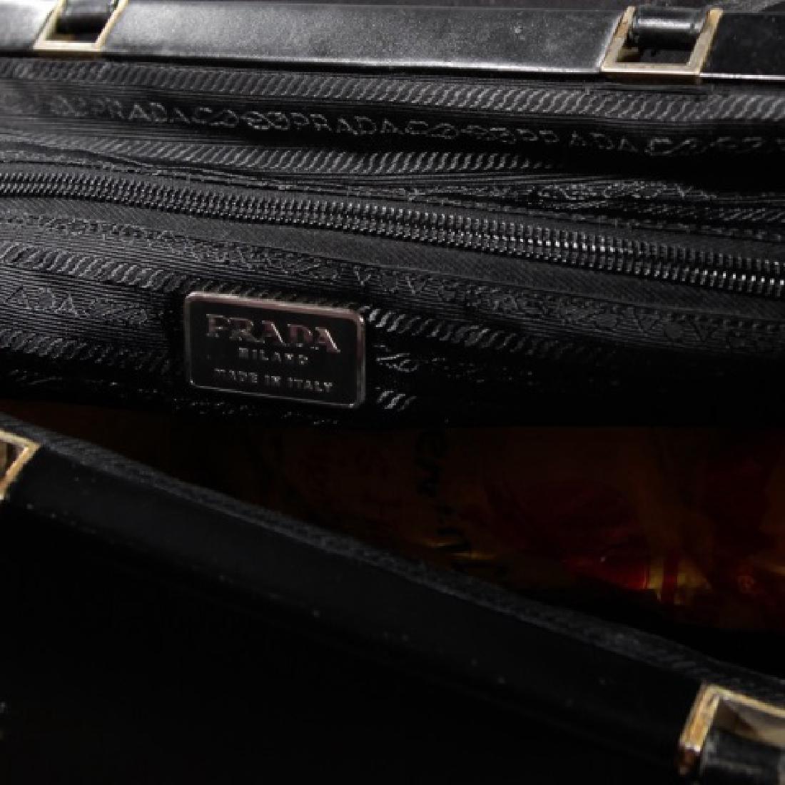Vintage Black Canvas & Leather Prada Purse - 2