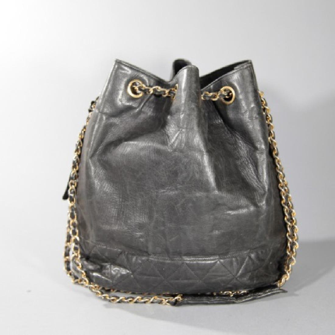 Vintage Black Quilted Leather Chanel Purse