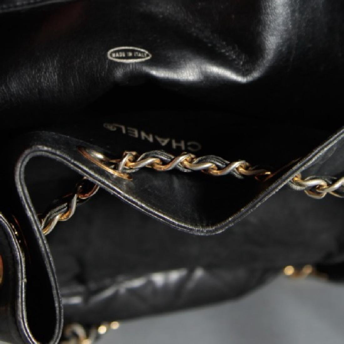 Vintage Black Quilted Leather Chanel Purse - 2
