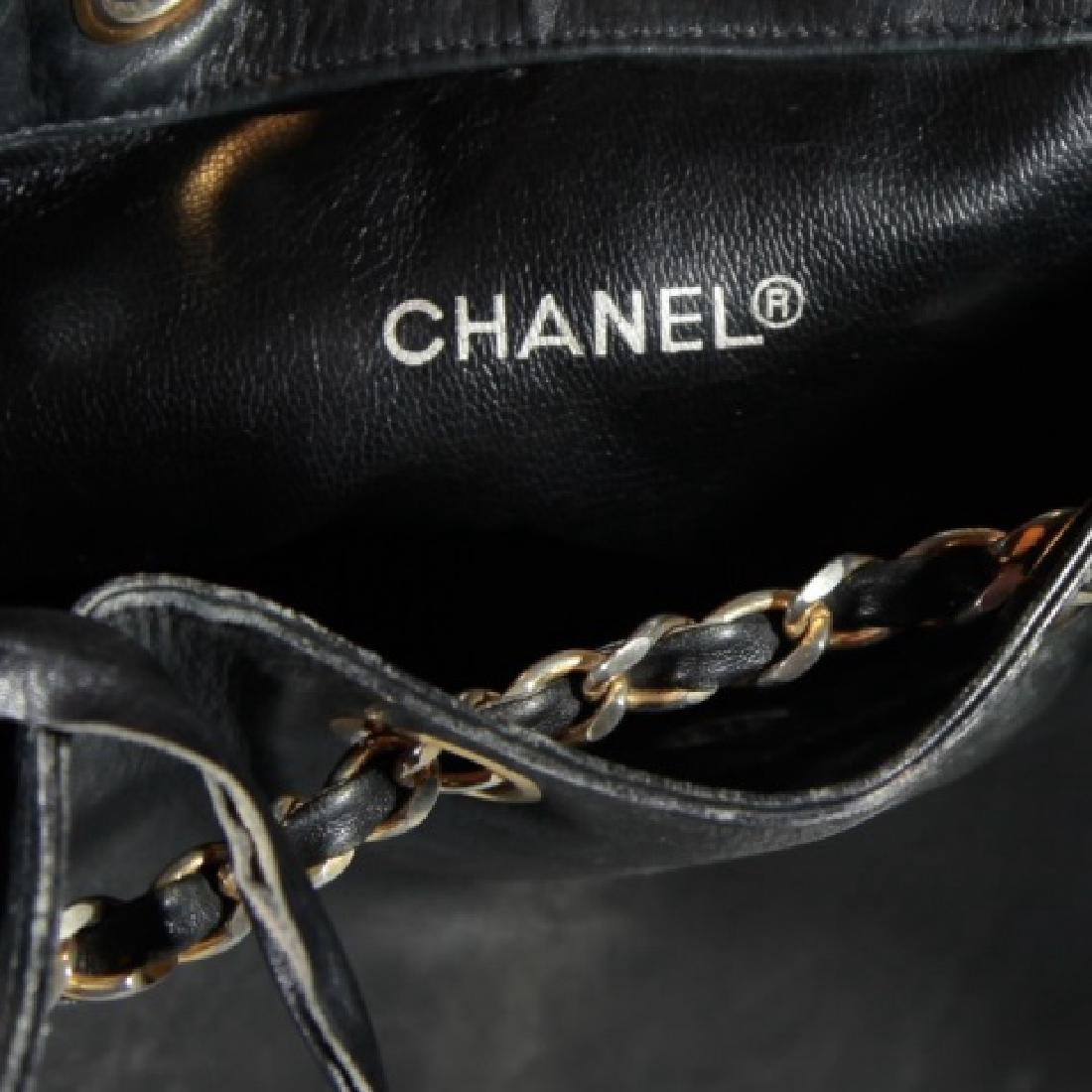 Vintage Black Quilted Leather Chanel Purse - 4