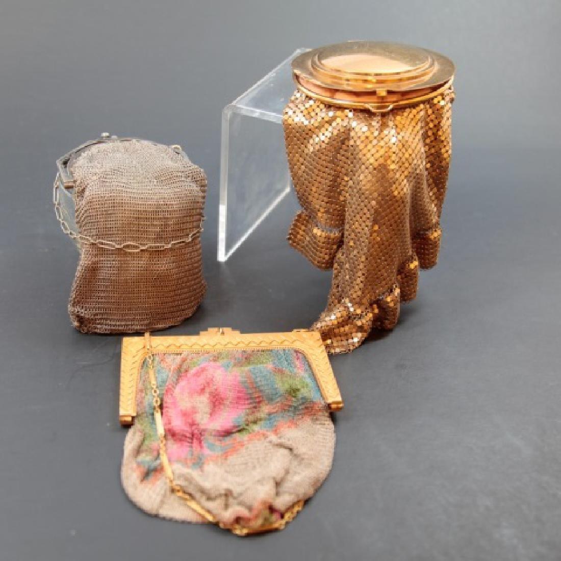 Three Antique / Vintage Mesh Whiting Davis Purses
