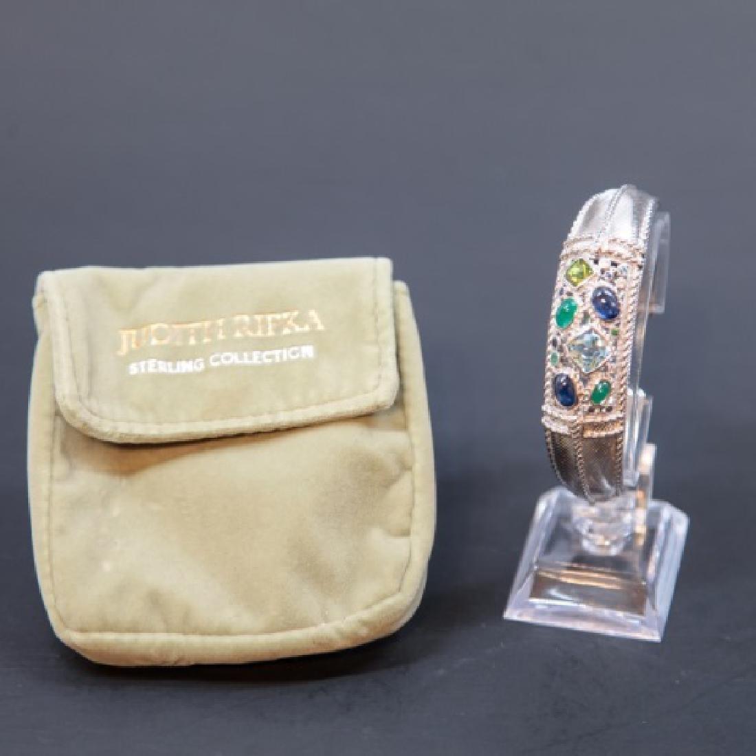 Judith Ripka Sterling Silver Cuff Bracelet in Box