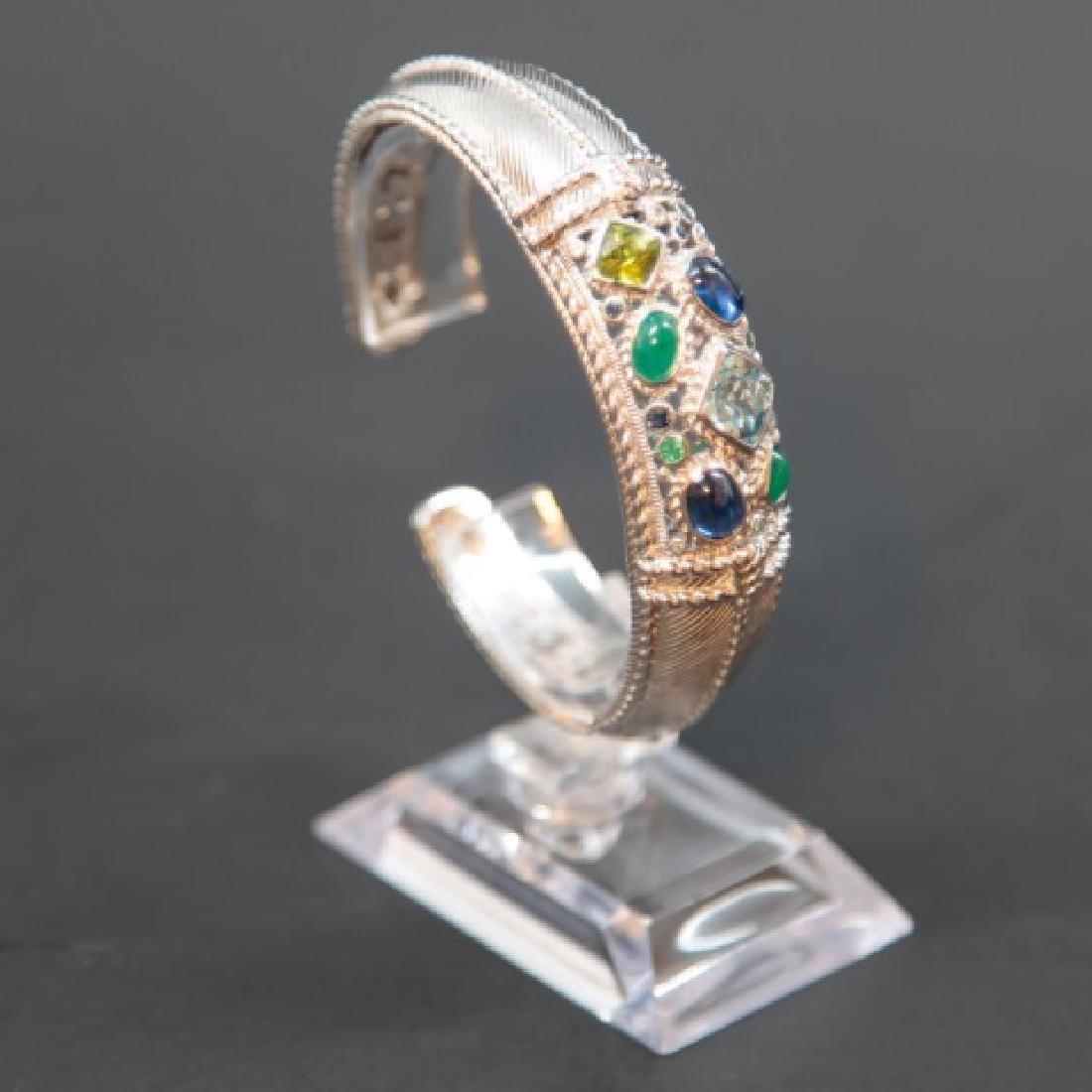 Judith Ripka Sterling Silver Cuff Bracelet in Box - 5
