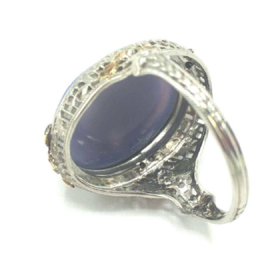 Estate Victorian 14kt Gold Cameo Seed Pearl Ring - 2