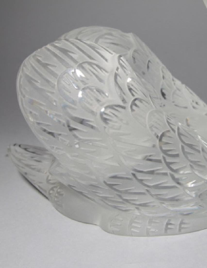 Large Lalique French Art Glass Statue of a Swan - 4