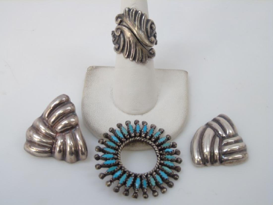 Vintage Sterling Mexican & Native American Jewelry