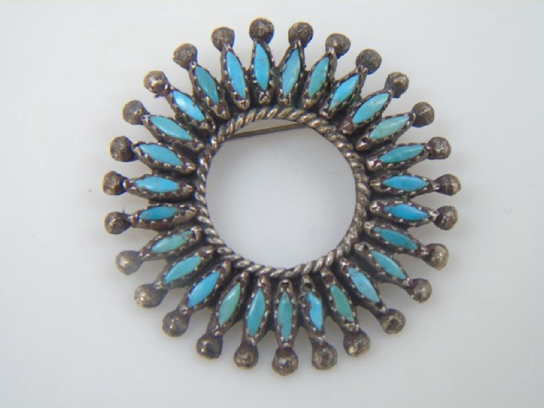 Vintage Sterling Mexican & Native American Jewelry - 2