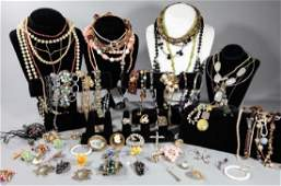 Large Group of Costume Jewelry Items
