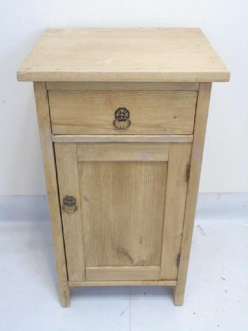 Pine Wood Side Cabinet Nightstand