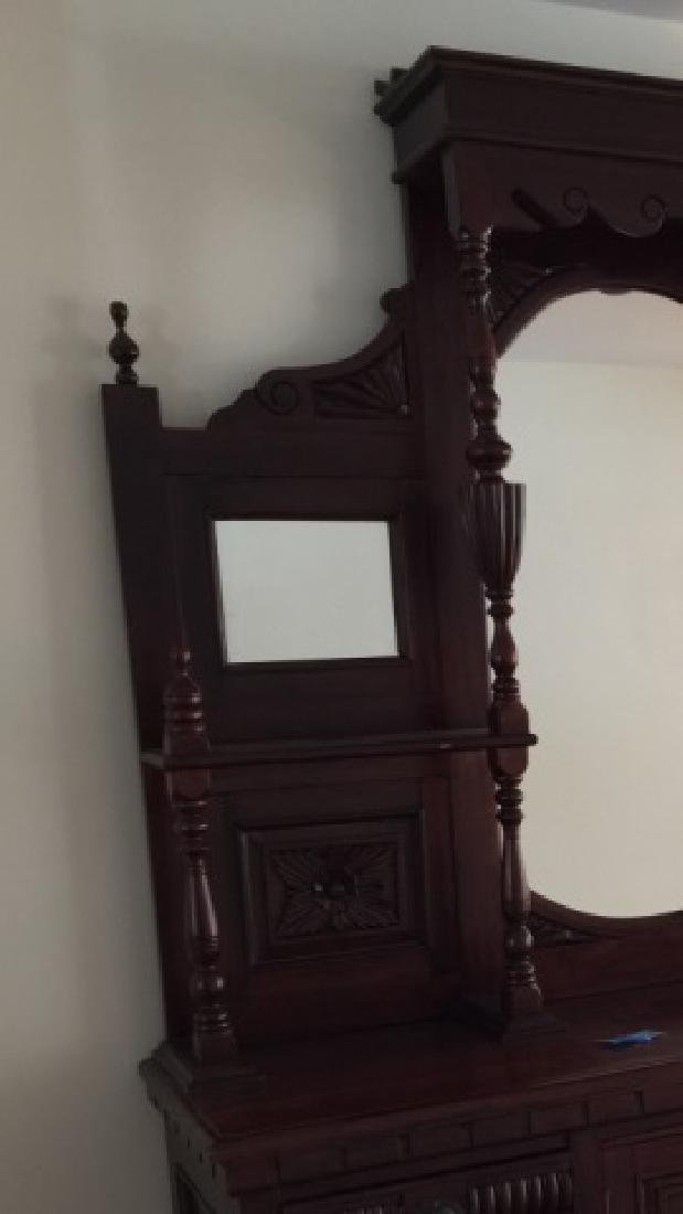 19th C Victorian Etagere Carved Wood w Mirrors - 2