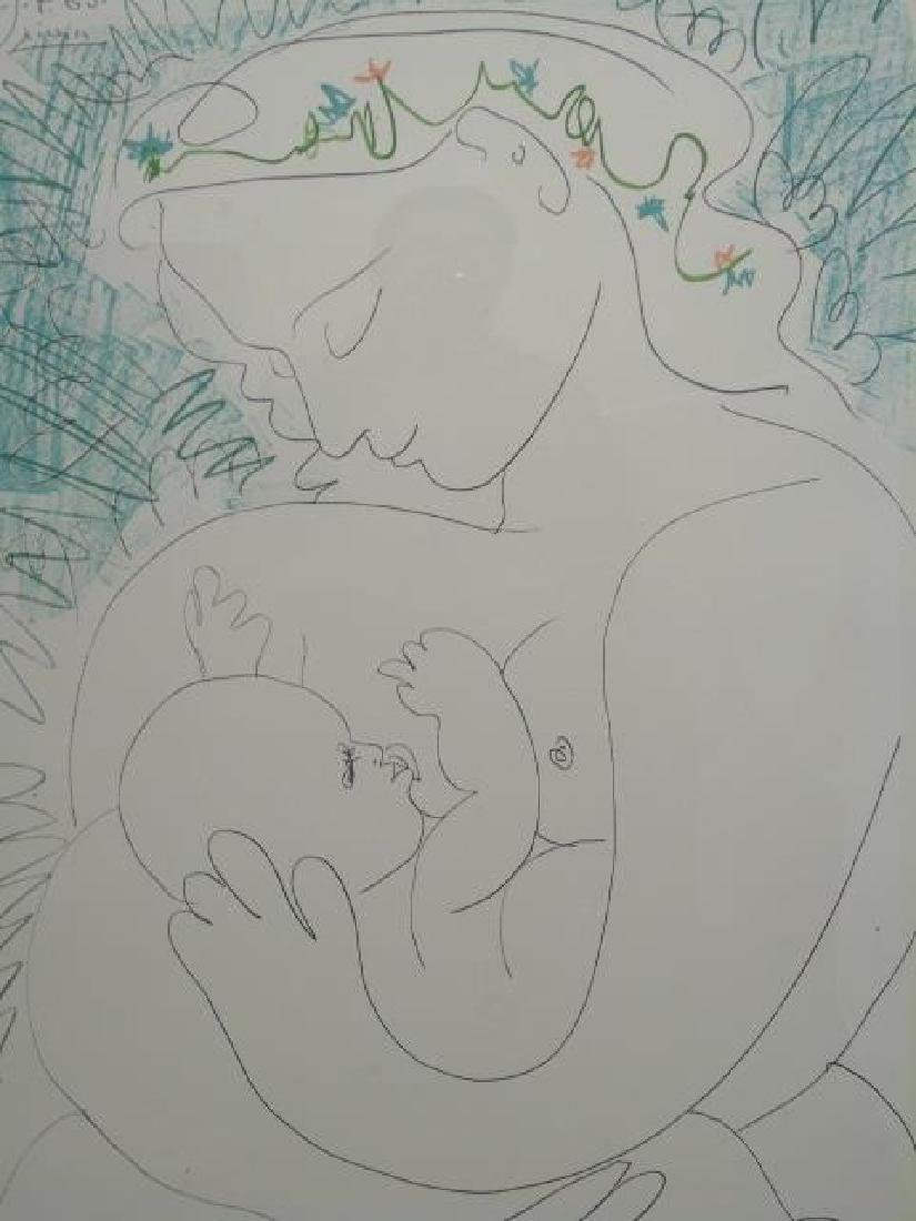 Picasso Pencil Signed Lithograph: Maternity - 2
