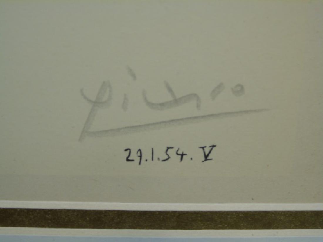 Picasso Pencil-Signed Lithograph: Clown & Acrobat - 3