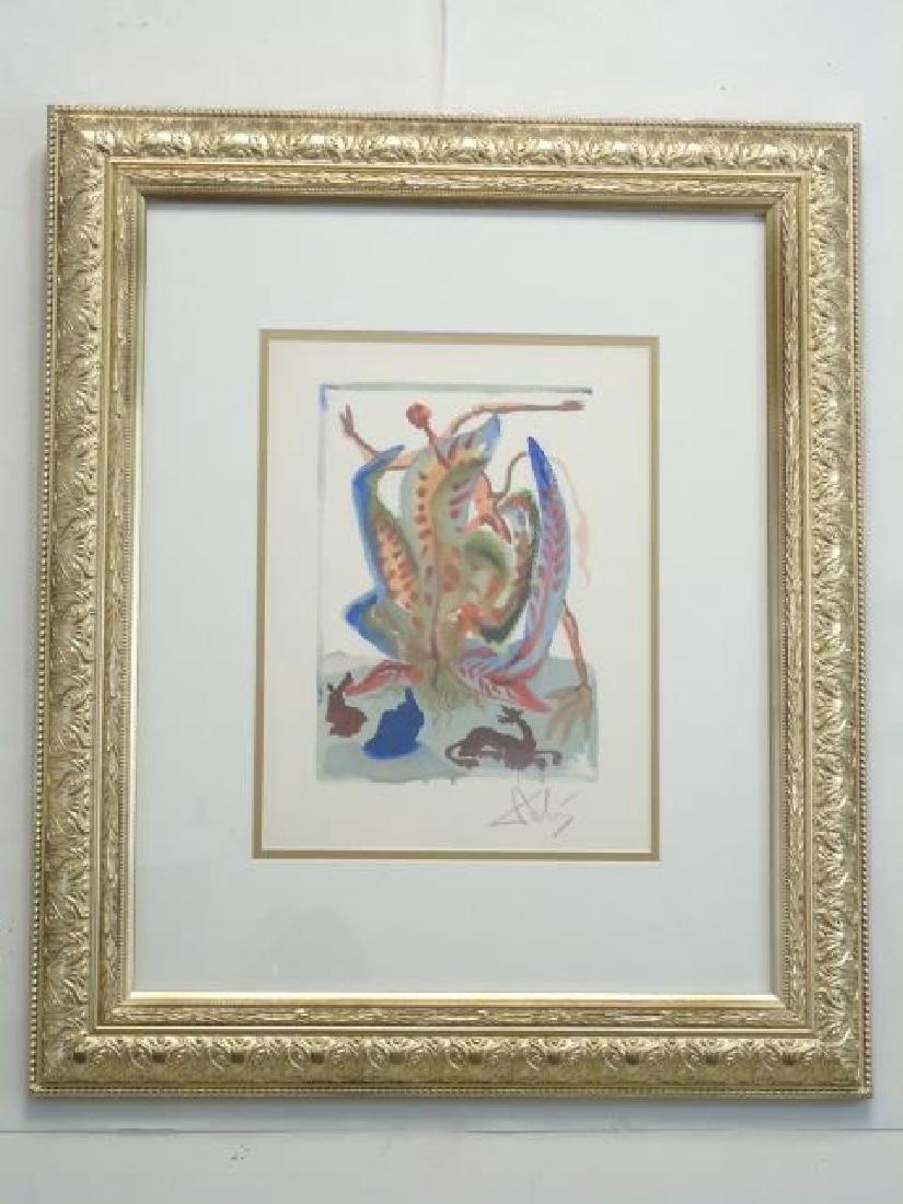 Salvador Dali Signed Lithograph: Divine Comedy