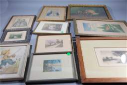 Large Group of Small Framed Items Illustrations