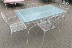 Garden / Patio Wrought Iron Dining Table & Chairs