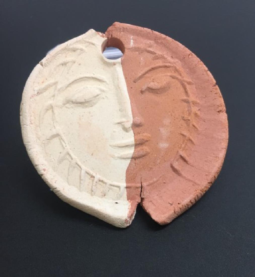 Pablo Picasso - Stamped Pottery Medallion / Plaque