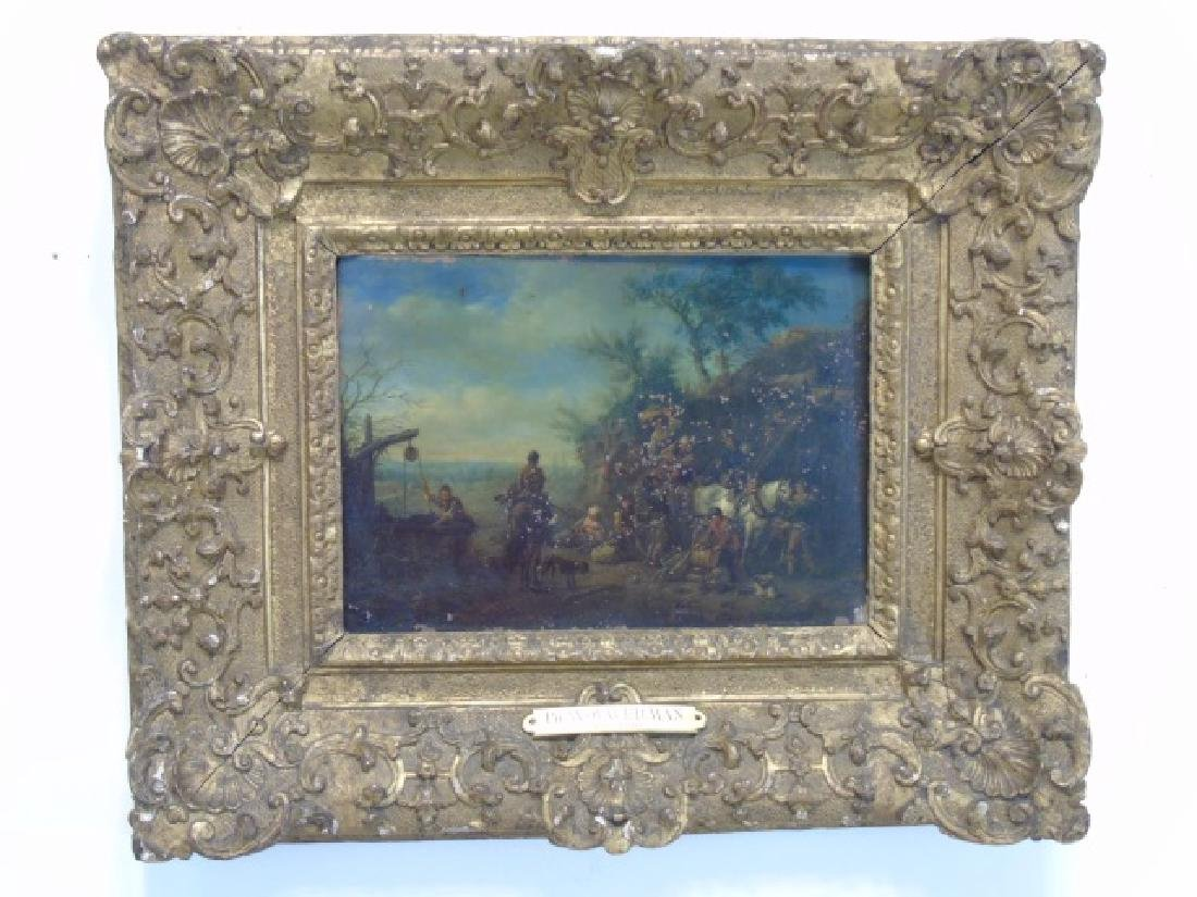 Philips Wouwerman - Oil Painting Well w Horses