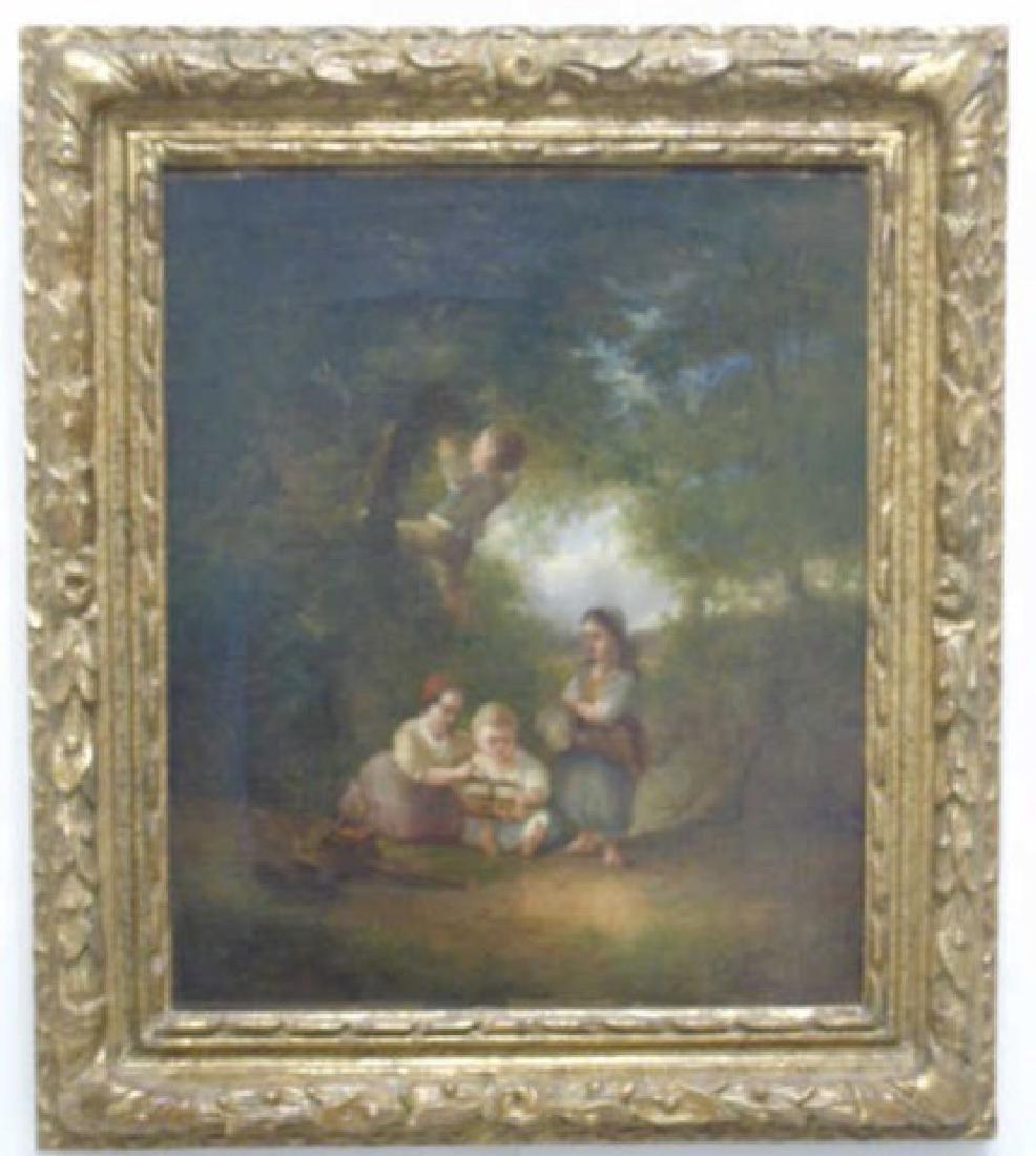 Johan Mari Henri Ten Kate Oil on Canvas 4 Children