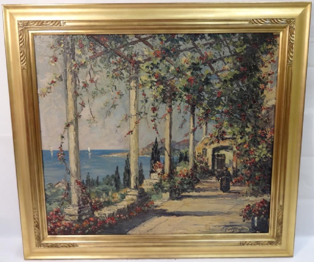 Garden Path by Sea- Leonid Gechtoff- Oil on Canvas