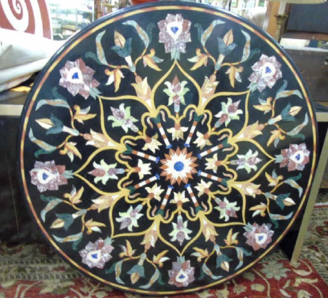 Italian Pietra Dura Style Marble & Stone Table