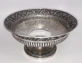 Large Tiffany & Co. Sterling Footed Serving Bowl